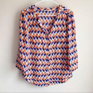 41 Hawthorn Stitch Fix Geometric 3/4 Sleeve Blouse